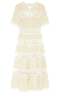 Платье-макси с кружевными вставками Laroom