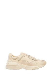 Белые кожаные кроссовки Rhyton Gucci