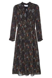 Платье-миди с принтом D.O.T.127