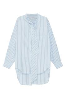 Голубая блузка в полоску Balenciaga