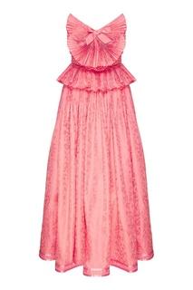 Розовое платье с декоративной отделкой Gucci