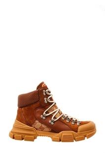 Высокие ботинки на шнуровке Gucci