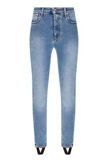 Голубые джинсы с логотипом Msgm