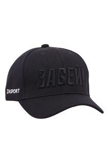 Черная хлопковая бейсболка с вышивкой Zasport