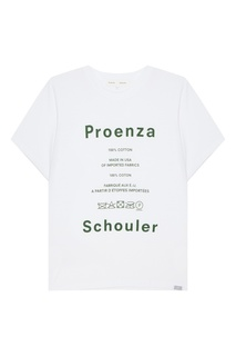 Белая футболка с логотипом Proenza Schouler