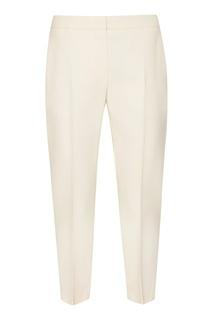 Укороченные брюки молочного цвета Alexander Mc Queen