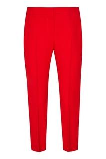 Укороченные красные брюки Alexander Mc Queen