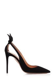 Черные туфли Deneuve Pump 105 Aquazzura