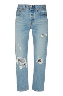 Голубые джинсы с прорезями Levis®