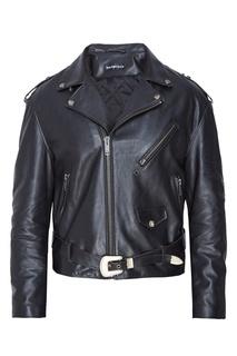Кожаная байкерская куртка Balenciaga