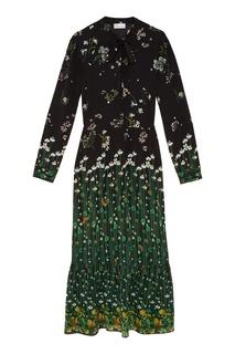 Шелковое платье с цветочным принтом RED Valentino