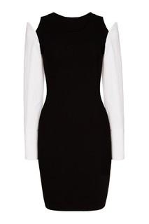 Платье с контрастными рукавами Mo&Co