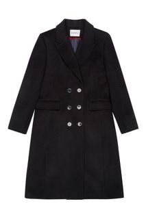 Черное пальто с двубортной застежкой Claudie Pierlot