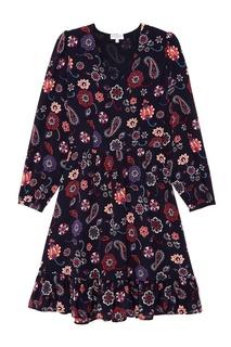 Шелковое платье с принтом Claudie Pierlot