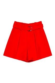 Красные шорты с поясом Claudie Pierlot