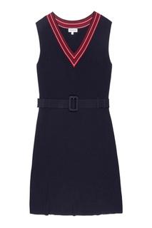 Темно-синие платье с поясом Claudie Pierlot
