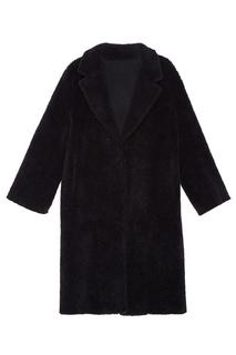 Черное пальто свободного кроя D.O.T.127