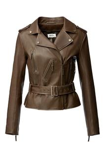 Короткая кожаная куртка Izeta