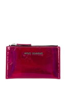 Красный кошелек с рельефной отделкой Adolfo Dominguez