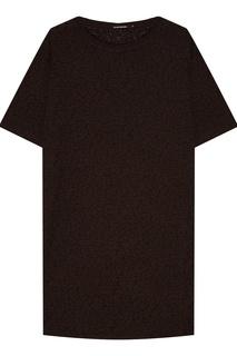 Черное платье-футболка Blank.Moscow