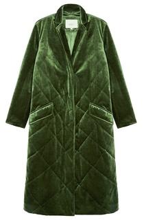 Зеленое стеганое пальто Akhmadullina Dreams