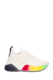 Белые кроссовки с контрастной подошвой Stella Mc Cartney