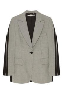 Серый жакет с комбинированным дизайном Stella Mc Cartney