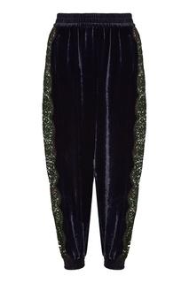 Черные брюки с ажурными вставками Stella Mc Cartney