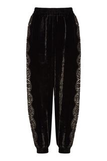 Вельветовые брюки с кружевом Stella Mc Cartney