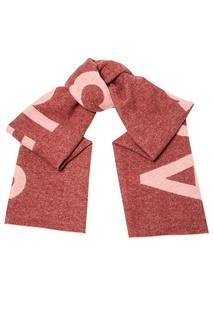 Розовый шарф с логотипом Acne Studios