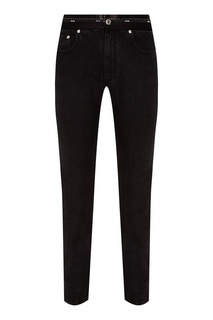 Черные джинсы с декоративным поясом Msgm