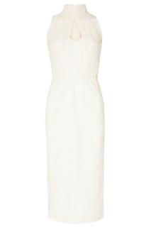 Белое хлопковое платье Laroom