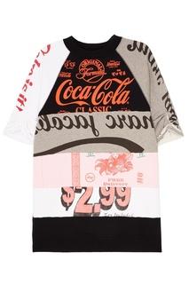 Платье из комбинированного хлопка Marc Jacobs