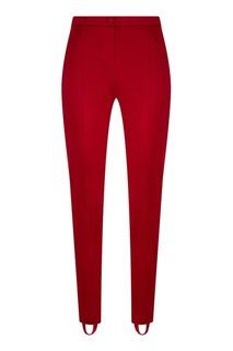 Бордовые брюки со стрелками Gucci