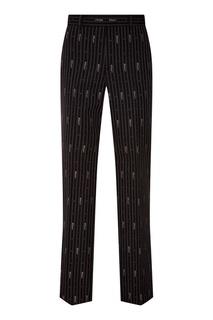 Черные брюки в полоску Gucci
