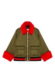 Куртка с меховой отделкой Gucci