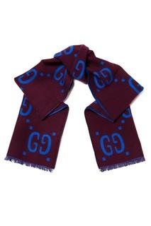 Двухсторонний шарф с логотипами Gucci