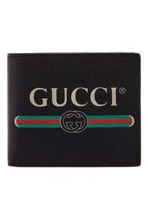 Черный кошелек с логотипом Gucci