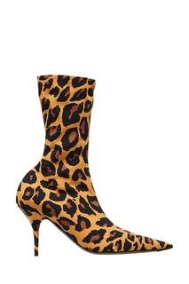 Сапоги с леопардовым принтом Balenciaga