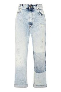 Голубые джинсы с потертостями Golden Goose Deluxe Brand