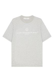 Серая футболка с логотипом Golden Goose Deluxe Brand