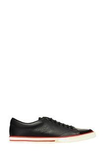 Черные кожаные кеды Balenciaga