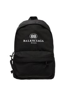 Черный рюкзак с логотипом Balenciaga