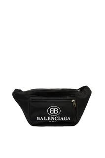 Черная сумка на пояс Balenciaga