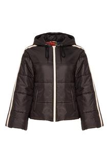 Черная куртка с контрастной отделкой Gucci
