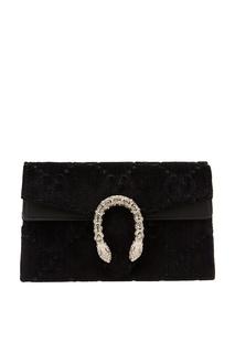 Черная сумка из текстиля Dionysus GG Gucci