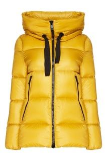 Желтая куртка с контрастной отделкой Moncler