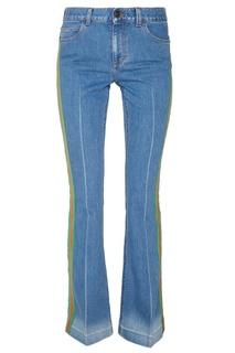 Голубые джинсы с лампасами Gucci
