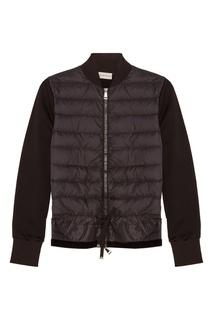 Куртка с комбинированным кроем Moncler