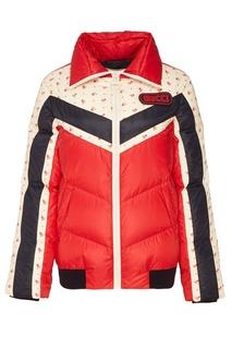 Стеганая куртка с логотипом Gucci